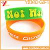 Braccialetto stampato reso personale /Wristband (YB-SL-03) del silicone di marchio