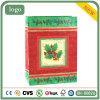 Bolsa de papel del regalo de Ho Ho Ho de la bolsa de papel del modelo de la hoja de la Navidad