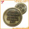 Muntstuk van de Uitdaging van het Metaal van het Email van de douane het Harde Antieke Zilveren (yB-c-015)