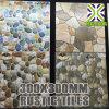 Prezzo poco costoso di ceramica di buona qualità delle mattonelle di pavimento di disegno del Cobblestone di Fuzhou 300X300