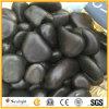 ワックスの自然で黒くか黄色または白または虎眼石または縞の小石または川の石と磨かれる