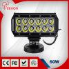 Guide optique droit d'entraînement rangée chaude LED de la vente 60W Osram de la double