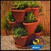 Venda a quente 3 Camadas Varanda travando a cesta vermelho tijolo com Corrente de forte Morango/Flower/plantadeira vegetais