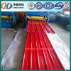 Tôle d'acier ondulée rouge de toiture utilisée sur la construction