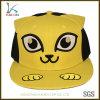 Animal lindo bordado personalizado el patrón de los niños tapa Snapback con oreja