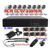 2014 Nuevo 8CH H. 264 Kit de sistema de cámaras de CCTV DVR3208Dh kpc