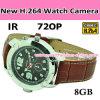 Neues Nightvision H. 264 720p Watch Camera, mit IR Nightvision und LED Flash Light