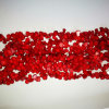 Moda Pedra Natural Crystal Red Sea Bamboo Coral Drop Bead