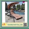Emballer la chaise extérieure d'oscillation de patio de rotin