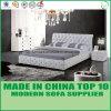 Insieme di cuoio moderno dell'assestamento della mobilia della camera da letto