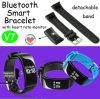 Waterdichte Slimme Armband Bluetooth met de Monitor van het Tarief van het Hart (V7)