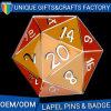 デザインまたはロゴの習慣のためのPolyhedral折りえりPin
