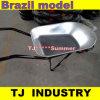 Carrinho de mão revestido/galvanizado do pó modelo de Brasil de roda