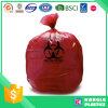 PE personalizado de material plástico impreso bolsa de basura hospitalaria
