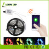 2m 5V multicolor Smart Phone WiFi flexível SMD controlada5050 Bar RGB tira de kit de luz de LED