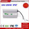 일정한 전압 24V 250W LED 방수 엇바꾸기 전력 공급 IP67