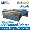 máquina plana ULTRAVIOLETA de la impresora del formato grande de los 2m*3m para el vidrio