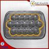 5*7  luz de conducción de 45W LED, rectángulo, negro, cromo