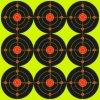 La salpicadura de papel adhesiva reactiva de las blancos del Shooting de la diana repartió amarillo fluorescente