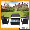 Do pátio ajustado do jardim do sofá do Rattan do PE moderno da tabela e da cadeira do lazer mobília ao ar livre