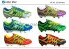 Ankunftsverspätung-Mann-Fußball-Schuhe