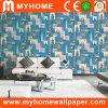 Papel pintado impermeable 2017 del PVC de la decoración casera de Guangzhou 3D con alta calidad