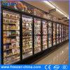 凍結するアイスクリームの縦のガラスドアの表示マーチャンダイザー