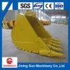 Cubeta 5.4 Cbm da rocha para a máquina escavadora Cat390 da lagarta