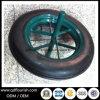 roda contínua do pneu de borracha da polegada 14X4 para o Wheelbarrow