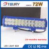 72W gebogen met CREE LEDs van LEIDENE van de Weg Lichte Staven