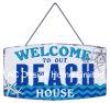 Добро пожаловать на наш пляж дизайн тиснение (emboss) Печать металлической стенки декор зубного налета