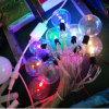 O dobro colore luzes coloridas da corda do diodo emissor de luz do Natal multi