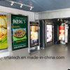 Metro van de luchthaven Binnen van de Reclame van de Media LEIDEN van de Structuur van het Aanplakbord van het Frame van het Aluminium van het pp- Document Zij Licht Vakje