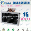 Produits brevetés solaires portatifs ultra-minces du système 15W à la maison (PETC-FDXT-15W)