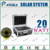 système à la maison solaire portatif d'alimentation de l'énergie 20W avec C.A. Nterface (PETC-FD-20W)