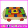 2014 de Houten Auto van het Blok, Stuk speelgoed van het Blok van het Stuk speelgoed van het Stuk speelgoed van de Auto het Grappige Houten, de Houten Kar van het Blok van het Stuk speelgoed (W13C016)