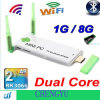J21 Android 4.2 Mais forte Signal Cortex A9 HDMI 1080P Mini PC Rockchip Rk3066 Dual Core 1GB RAM 8GB ROM Dual WiFi Antena com Bluetooth TV Box