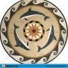 De vissen ontwerpen het Marmeren Medaillon van het Mozaïek