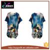 Nightdress шелка женщин добавочного размера флористический покрашенный