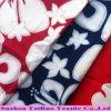 Tela impresa piel aplicada con brocha polivinílica del melocotón de la tela cruzada para la materia textil casera
