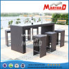 Giardino Bar Furniture Set del rattan con 1PCS Bar Table e 6PCS Barstool