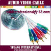 Male CableへのAudio/Video Interconnect Cable 2RCA/3RCA Male
