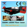 Metal Tube Cutting를 위한 완전히 Automatical Fiber Laser Cutting Machine