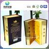 Boîte d'emballage en papier doré à dessin de luxe (pour les spiritueux)