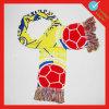 Страна красит акриловый связанный сплетенный шарф