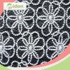 Laço indiano orgânico do bordado da tela de algodão do vestido de casamento do teste padrão de flor