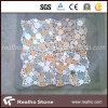 De veelkleurige Ronde Tegel van het Mozaïek voor Marmeren Steen
