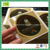 Etiquetas laminadas lustrosas da etiqueta do círculo de papel
