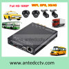 HD de 1080P 4 Channel School Bus DVR com slot para cartão SD e GPS