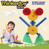 Brinquedos plásticos do bloco do brinquedo impertinente da instrução do modelo DIY da râ